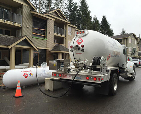 Contractor bulk propane delivery