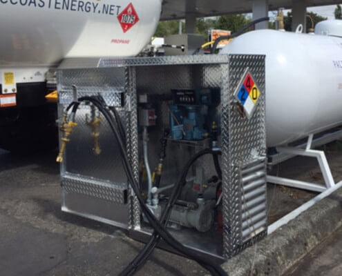 Contractor propane dispenser equipment