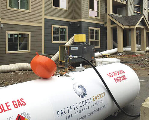 Contractor temporary heat and bulk propane service