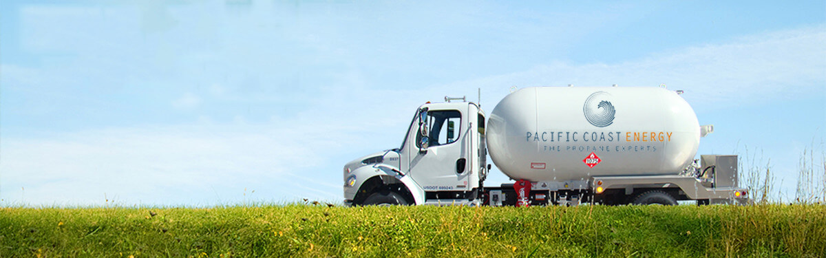 Propane delivery truck - Pacific Coast Energy