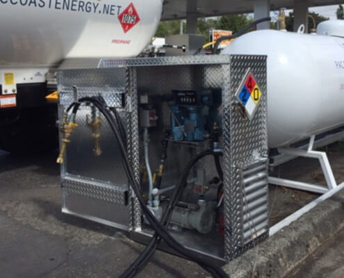 Contractor propane dispenser equipment